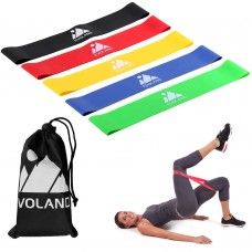 EVOLAND Resistance Loop Exercise Bands Set for Women Men Legs Butt Arms Shoulders Home Fitness, Strength Training, Yoga, Pilates Flexbands with Carrying Bag