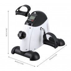 EVOLAND Mini Exercise Bike, Under Desk Leg Pedal Exerciser with Handle, Adjustable Resistance with LCD Display for Sitting Down, Unisex and Elderly, None Slip Mat Included