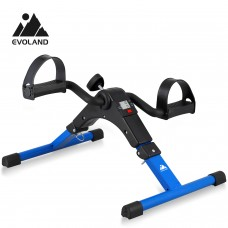 EVOLAND Pedal Exerciser Bike, Portable Home Fitness Mini Exercise Bike, Arm Leg Folding Exerciser Fitness Cycling with LCD Monitor and Adjustable Resistance, None Slip Mat Included